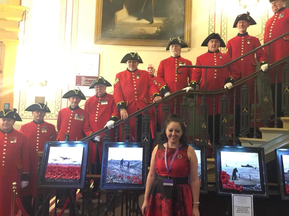 Jacqueline's debut exhibition at The Royal Albert Hall, London for The Festival of Remembrance 2015