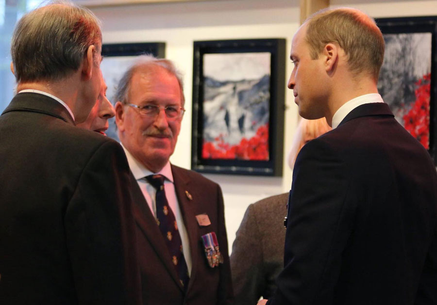 At the National Memorial Arboretum in 2017; the exhibition was opened by His Royal Highness, the Duke of Cambridge
