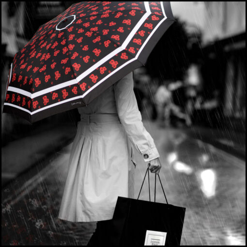 'Timeless' Umbrella in black, by Jacqueline Hurley