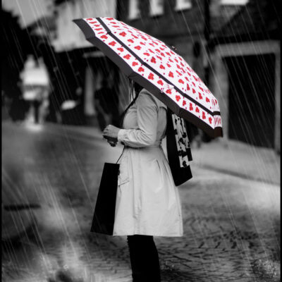 'Timeless' Umbrella in white, by Jacqueline Hurley